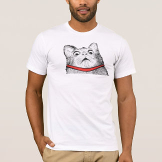 Surprised Cat Gasp Meme - Fitted T-Shirt