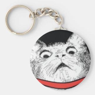 Surprised Cat Gasp Meme - Keychain