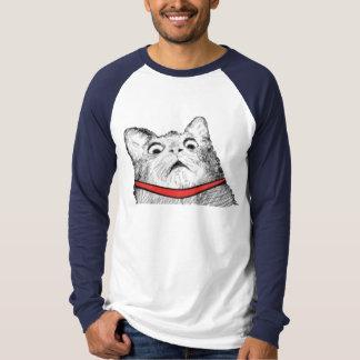 Surprised Cat Gasp Meme - Long Sleeve TShirt