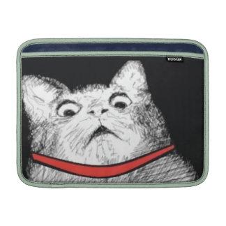 Surprised Cat Gasp Meme - MacBook Air Sleeve