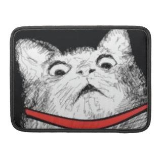 Surprised Cat Gasp Meme - MacBook Pro Sleeve