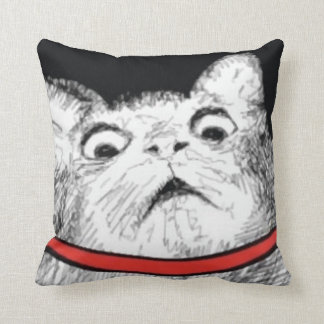 Surprised Cat Gasp Meme - Pillow