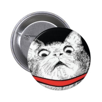 Surprised Cat Gasp Meme - Pinback Button