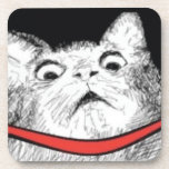 Surprised Cat Gasp Meme - set of 6 Cork Coasters