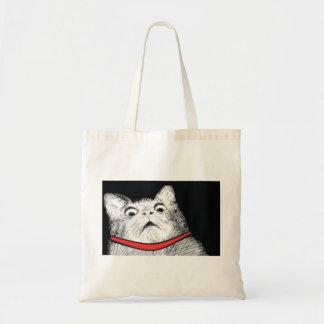 Surprised Cat Gasp Meme - Tote Bag