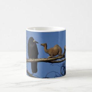Surprised Crow Coffee Mugs