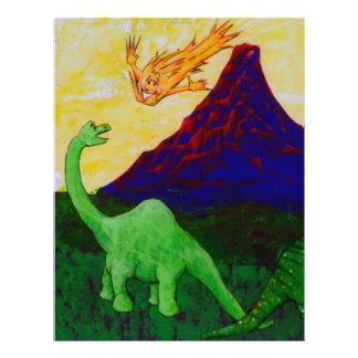 Surprised Dinosaurs Letterhead