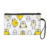 Surprised Easter chickens Wristlet Clutches