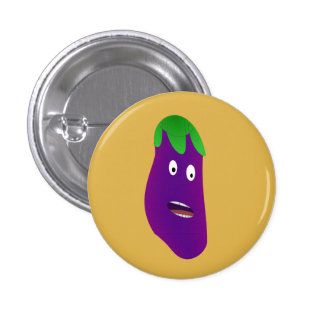Surprised Eggplant by Kenneth Yoncich Button