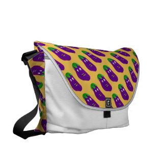 Surprised Eggplant Courier Bag
