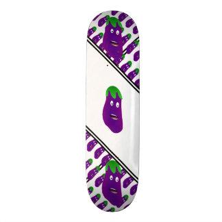 Surprised Eggplant Skateboard Deck