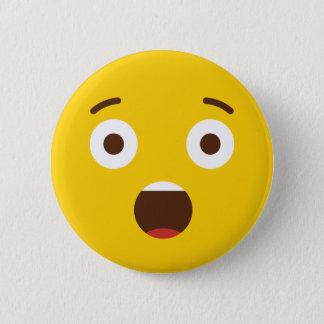 Surprised Emoji Pinback Button