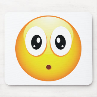 Surprised Emoticon Mouse Pad
