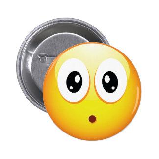 Surprised Emoticon Pinback Button