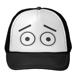 Surprised eyes trucker hat