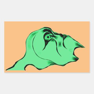Surprised Green Alien Rectangular Sticker
