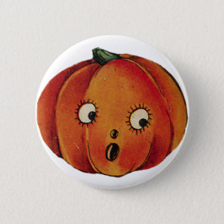 Surprised Halloween Pumpkin Button