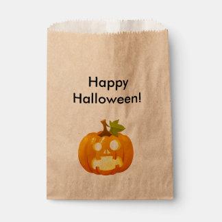 Surprised Jack-o-lantern Favor Bag
