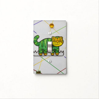 SURPRISED KITTY SINGLE TOGGLE SWITCH LIGHT SWITCH PLATES