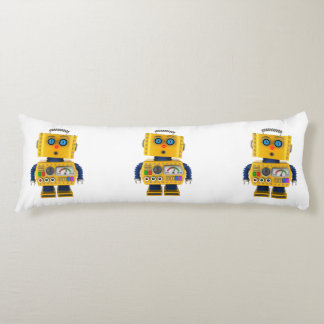 Surprised looking toy robot body pillow