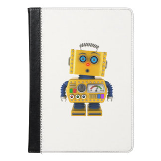 Surprised looking toy robot iPad air case