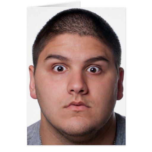 Surprised Man's Face Card