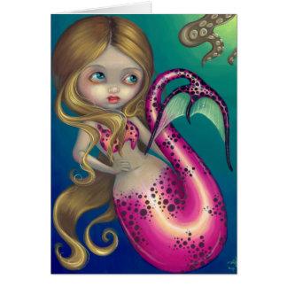 """""""Surprised Mermaid"""" Greeting Card"""