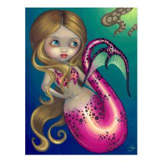 """Surprised Mermaid"" Postcard"