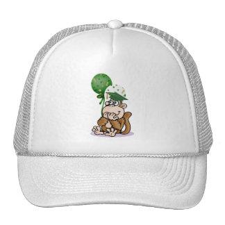 Surprised Monkey Graduate Trucker Hat