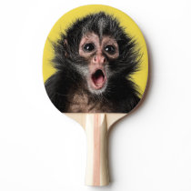 Surprised Monkey with Two Expressions Ping Pong Paddle