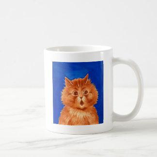 Surprised Orange Cat by Louis Wain Coffee Mug