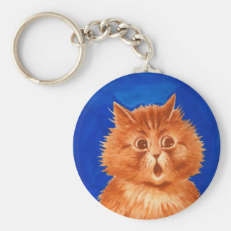 Surprised Orange Cat by Louis Wain Keychain