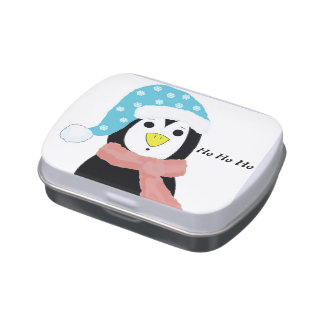 Surprised Penguin Jelly Belly Candy Tins