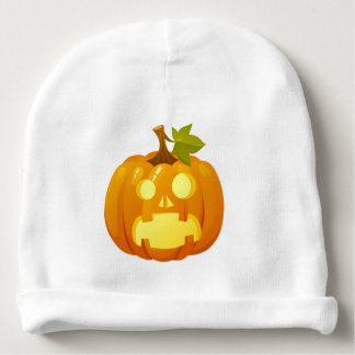 Surprised Pumpkin Baby Beanie