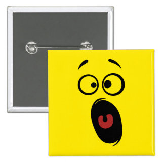 Surprised Scared Screaming Yellow Smiley Face Button