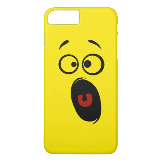 Surprised Scared Screaming Yellow Smiley Face iPhone 8 Plus/7 Plus Case