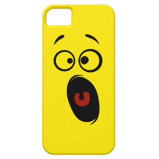 Surprised Scared Screaming Yellow Smiley Face iPhone SE/5/5s Case