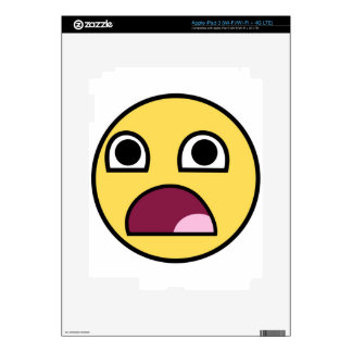 Surprised Smiley Face Decal For iPad 3