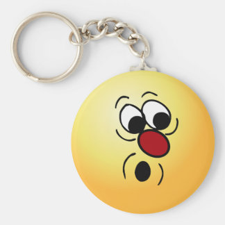 Surprised Smiley Face Grumpey Keychain