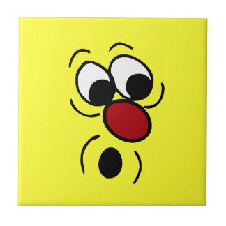 Surprised Smiley Face Grumpey Tile