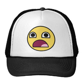 Surprised Smiley Face Trucker Hat