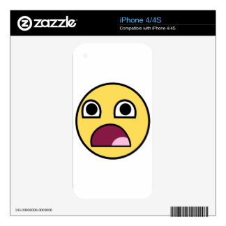 Surprised Smiley Face iPhone 4 Decal
