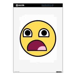 Surprised Smiley Face Skin For The iPad 2