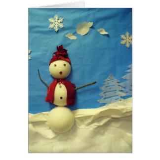 Surprised Snowman Card
