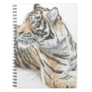 Surprised Tiger Watercolour Spiral Notebook