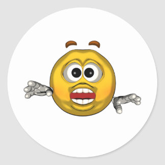 Surprised - toon classic round sticker
