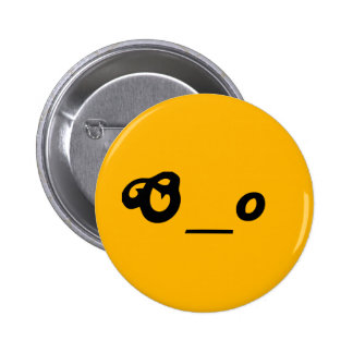 surprised worried O underscore o text emote face Pinback Button