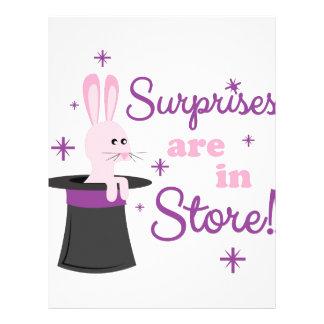 Surprises In Store Letterhead