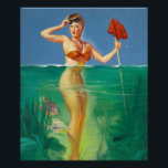 """Surprising Catch Pin Up Art Poster<br><div class=""""desc"""">Looking for vintage pinup girl art? You've come to the right place. Indulge in your vintage pinup passion with us. Pin Up Art features a variety of pin up girl photos from the 1910s to the 1950s.      This product features Surprising Catch vintage pin up girl art.</div>"""