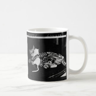 Surprising Friendship - Cat Minnie and Mike Mouse Coffee Mug